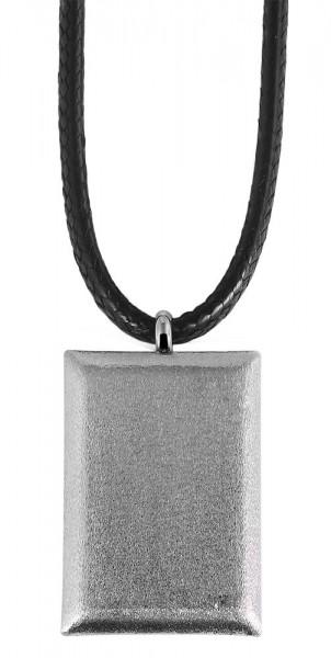 Akzent Textil Unisex Lederimitatkette, Länge: 45 cm / Stärke: 3 mm