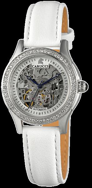 Carucci CA2212 Automatik Damenuhr mit Echtlederband - UVP 299,95€