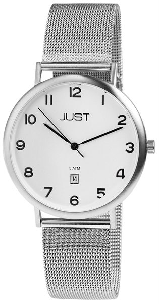Just JU009 Analog Herrenuhr mit Echtlederband - UVP 69,95 €
