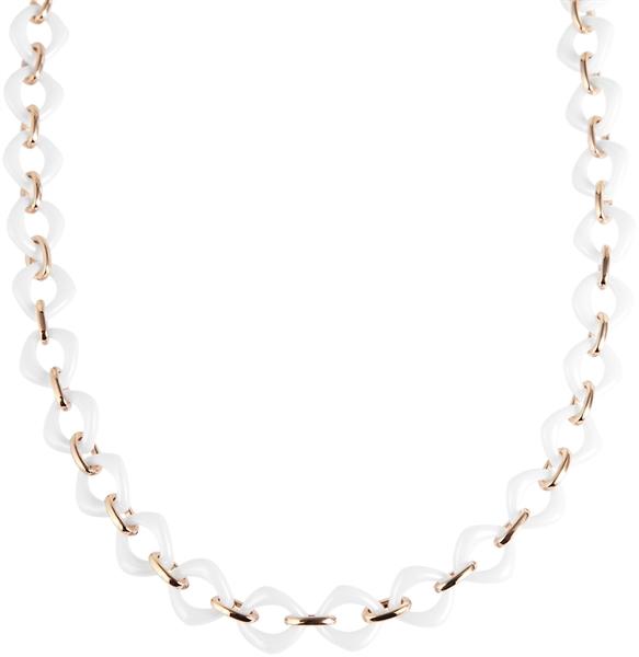 Just Halskette aus Keramik und Edelstahl mit IP Roségold-Beschichtung l UVP 99,90 €