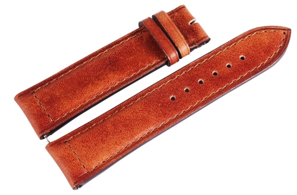 Carucci Basic Echtleder Armband in braun, glatt, gepolstert, 22 mm