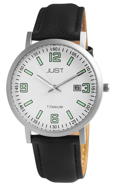 Just JU004 Analog Herrenuhr mit Echtlederband - UVP 59,95 €