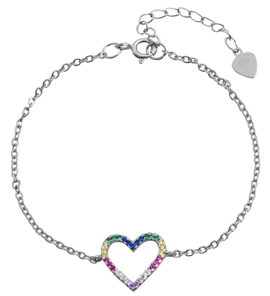 925 Silber Armband, 15+4cm, 925/rhodiniert, 1,7g