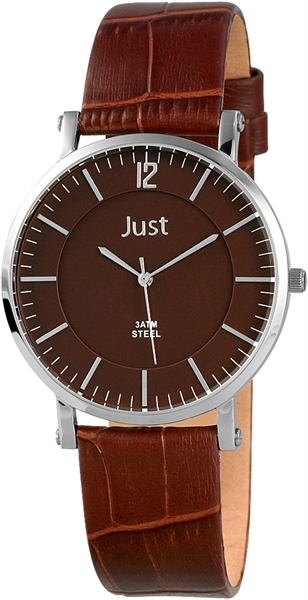 Just JU229 Analog Herrenuhr mit Echtlederband - UVP 49,90 €