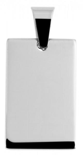 Akzent Edelstahlanhänger in silberfarbig, Breite: 19 mm / Höhe: 29 mm