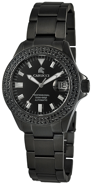 Carucci CA2200 Automatik Damenuhr mit Edelstahlband - UVP 329,95€