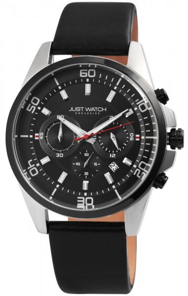 JUST WATCH EXCLUSIVE JWE006 Chronograph Herrenuhr mit Echtlederband - UVP 89,95€