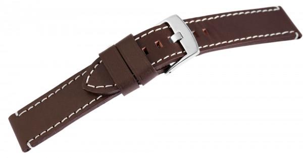 Echt Leder Armband, XL, dunkelbraun mit weißer Naht, UVP 19,95 €
