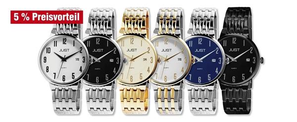 Just Herren Uhren mit Edelstahlband im 6er-Set, 5% Preisvorteil