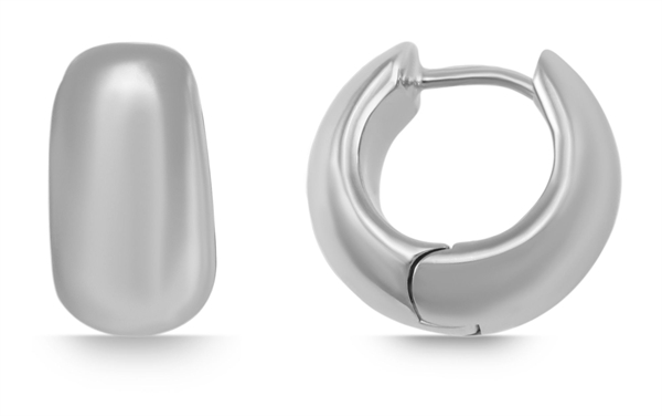 925 Silber Creolen, 925/, 13,4 gr., rhodiniert