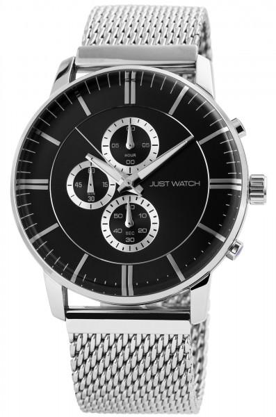 Just Watch JW027 Chronograph Herrenuhr mit Edelstahlband - UVP 79,95 €