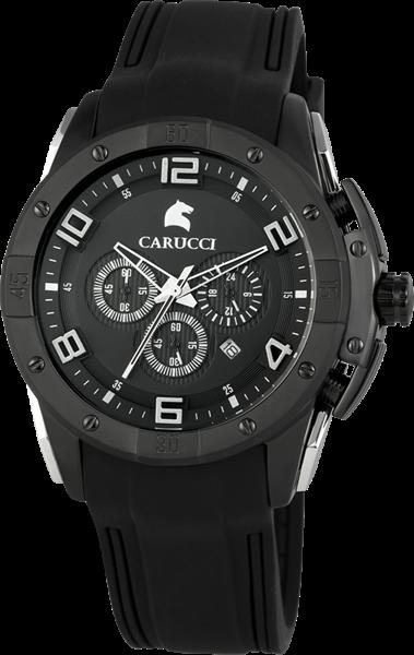 Carucci CA2214 Chronograph Herrenuhr mit Kautschukband - UVP 249,95€