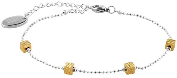 Just Schmuckarmband aus Edelstahl in silberfarbig mit IP Gold-Beschichtung l UVP 16,90 €