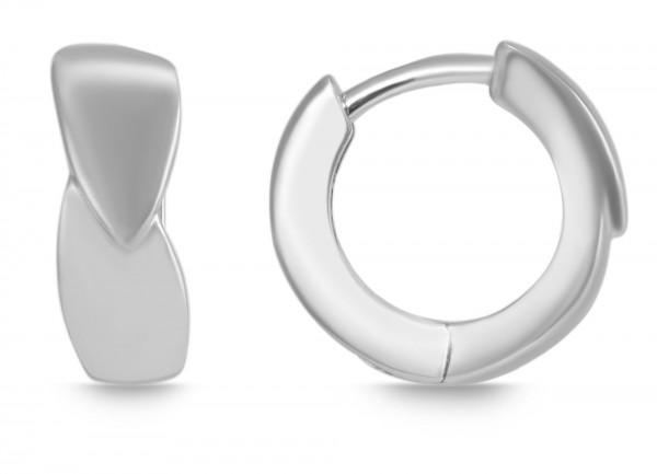 925 Silber Creolen, 925/, 3,1 gr., rhodiniert