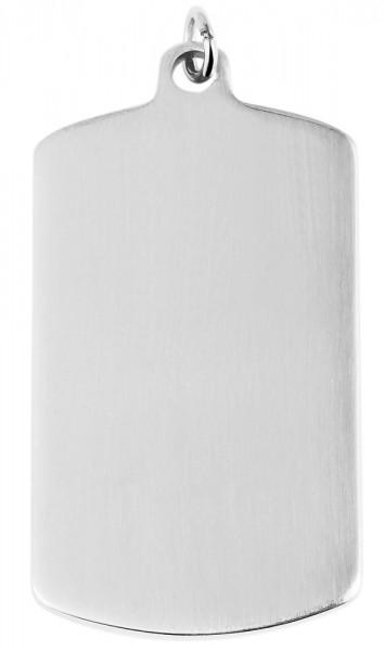Akzent Edelstahlanhänger in silberfarbig, Breite: 29 mm / Höhe: 49 mm