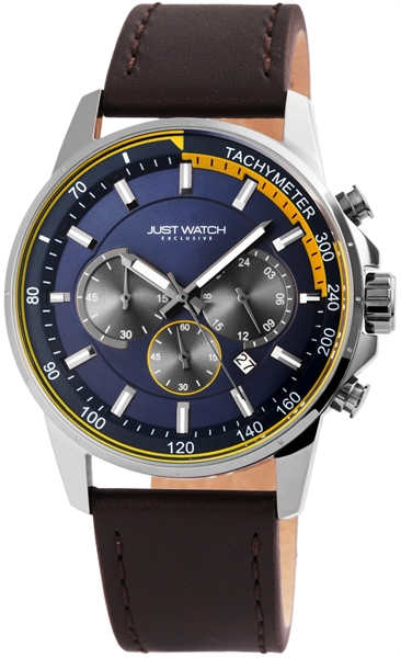 Just Watch JW114 Analog Herrenuhr mit Echtlederband - UVP 89,95€