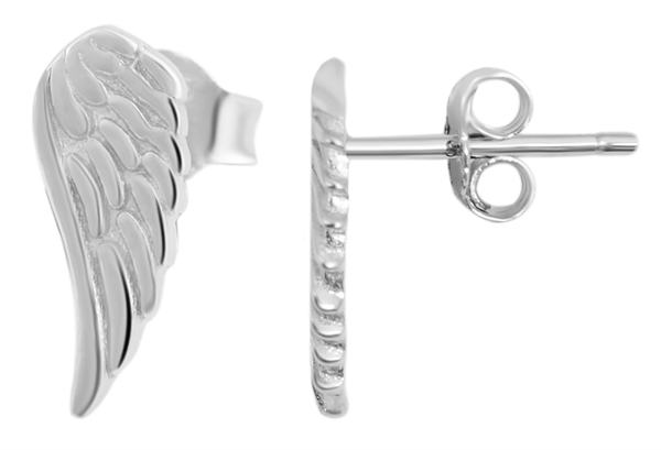 925 Silber Ohrringe, 925/rhodiniert, 0,8g