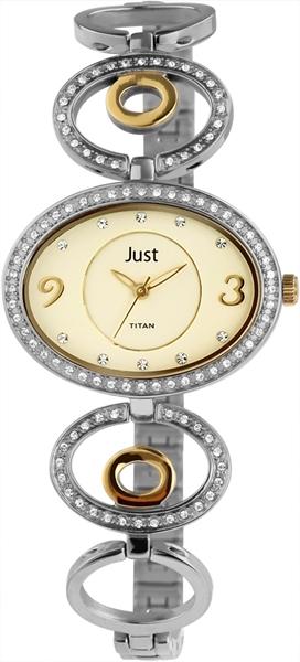Just 48-S61255 Analog Damenuhr mit Titanband - UVP 99,95 €