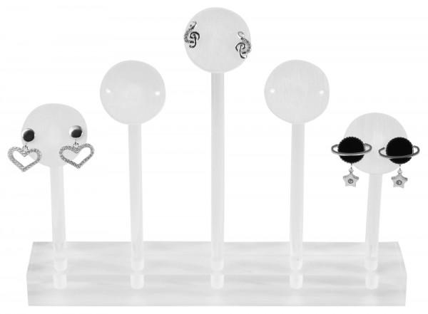 Aufsteller Ohrringe, Maße: 15 x 2,5 x 1,5 cm