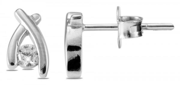 925 Silber Ohrstecker, 925/, 1,2 gr., rhodiniert