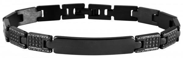 Armband aus Edelstahl in Schwarz mit IP Black-Beschichtung