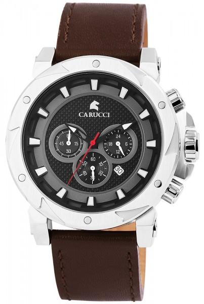 Carucci CA2218SL Chronograph Herrenuhr mit Echtlederband - UVP 209,00€