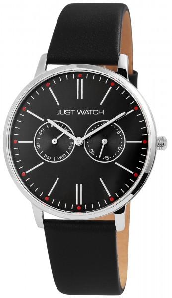 Just Watch Herrenuhr mit Multifunktionsuhrwerk und Echtlederband - UVP 59,95€