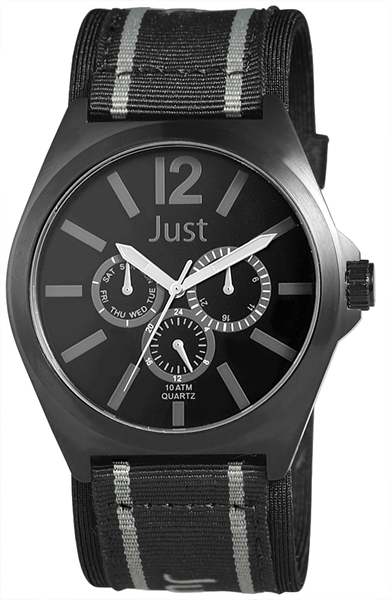 Just JU202 Analog Herrenuhr mit Textilband - UVP 59,95 €