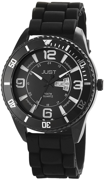 Just JU163 Analog Herrenuhr mit Silikonband - UVP 59,95€