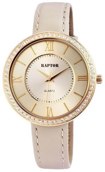 Raptor 1978-0034 Analog Damenuhr mit Oberseite Echtlederband - UVP 39,95 €