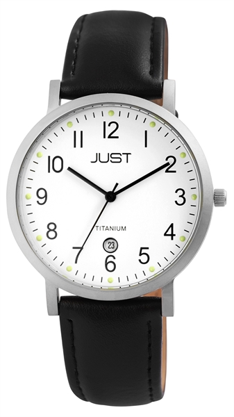 Just JU002 Analog Herrenuhr mit Echtlederband - UVP 59,95 €