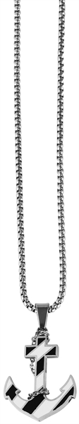 Akzent Edelstahl Damen Halskette, Länge: 43 cm / Stärke: 2 mm