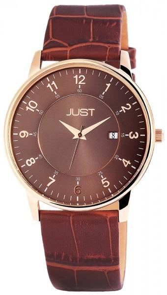Just JU139 Analog Herrenuhr mit Echtlederband - UVP 69,95 €