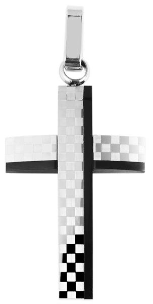 Akzent Edelstahlanhänger in silberfarbig, Breite: 24 mm / Höhe: 36 mm