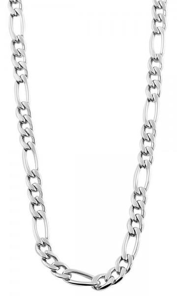 Akzent Edelstahl Unisex Figarokette, Länge: 50 cm / Stärke: 4 mm