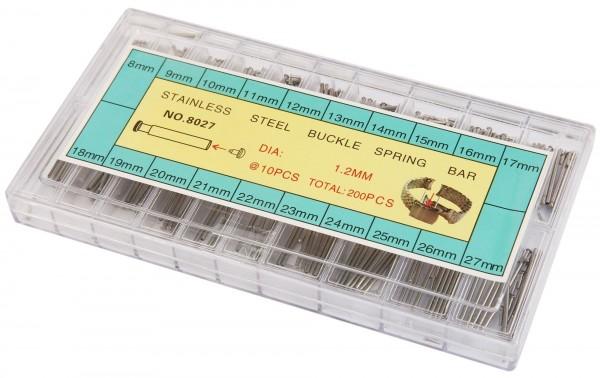 Nietstifte Sortiment in 20 verschiedenen Größen, 8 mm - 27 mm, Ø 1,2 mm, 200 Stück