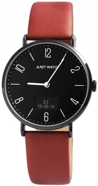Just Watch JW108 Hybrid Smart Watch Herrenuhr mit Echtlederband - UVP 129,95€