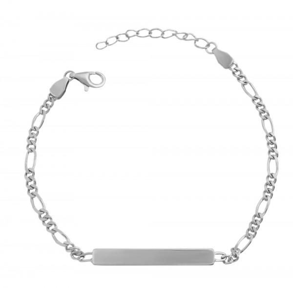 925 Silber Armband , 14+3cm, 925/ rhodiniert, 2,3g