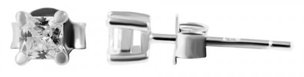 925 Silber Ohrringe, 925/rhodiniert, 0,6g