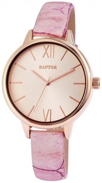 Raptor RA10-0011 Analog Damenuhr mit Echtleder-Echtlederband - UVP 49,95 €