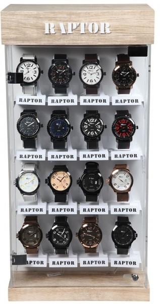 Raptor Tischdrehvitrine für 32 Uhren, drehbar, 600 mm x 300 mm x 200 mm