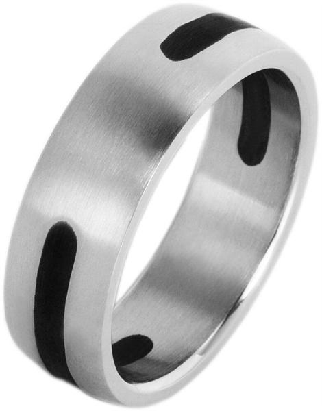 Akzent Unisex-Ring aus Edelstahl