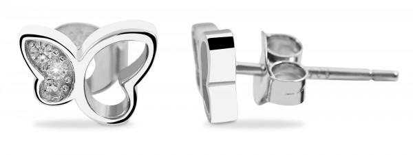 925 Silber Ohrringe, 925/rhodiniert, 0,9g
