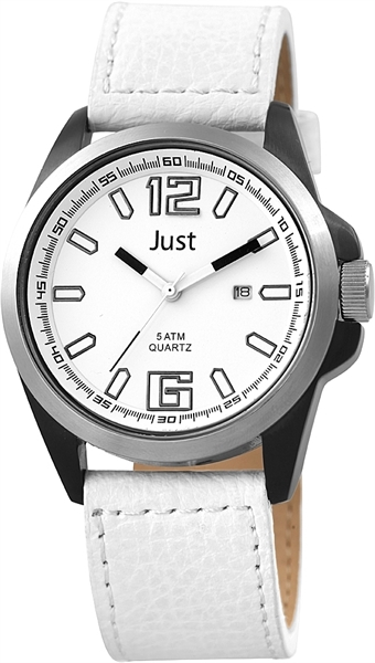 Just JU155 Analog Herrenuhr mit Echtlederband - UVP 54,90€