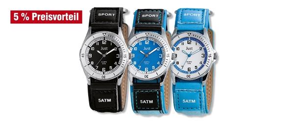 Just Kinder Analog Uhren mit Lederimitatband im 3er-Set, 5% Preisvorteil