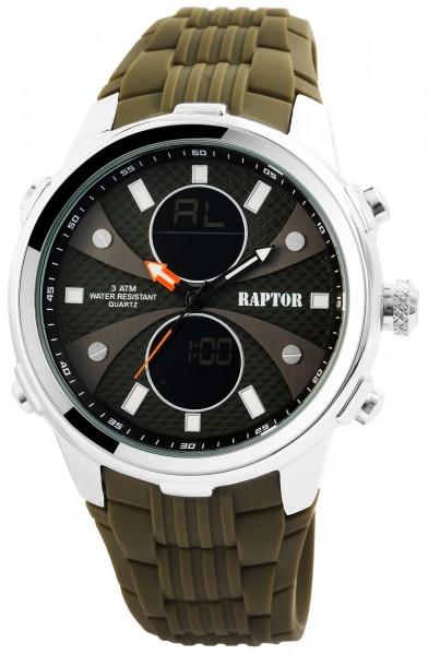 Raptor Herrenuhr mit Silikonarmband - UVP 49,95€