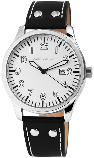 Just Watch JW20001 Analog Herrenuhr mit Echtlederband - UVP 49,95 €