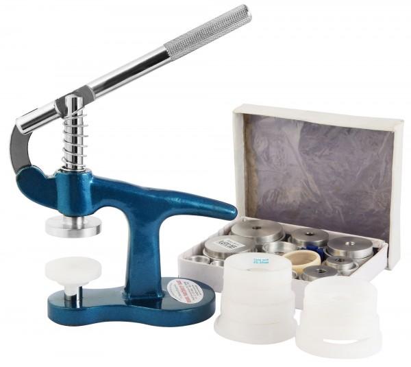 Gehäuseschließer mit Einpressvorrichtung (inkl. Metall- und Kunststoffeinsätzen)