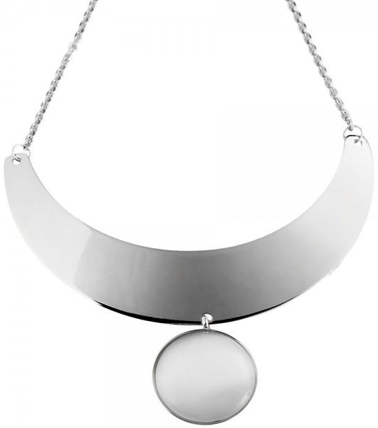 Akzent Edelstahl Halskette, Länge: 50 cm / Stärke: 3 mm
