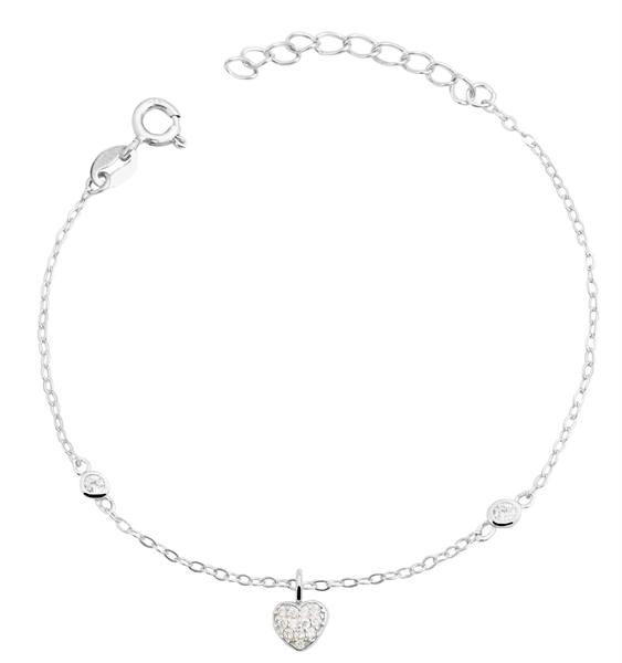 925 Silber Armband, 14+3cm, 925/ rhodiniert, 0,9g